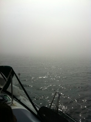 Sailing in fog